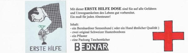 Banderole Erste-Hilfe-Kunstdose