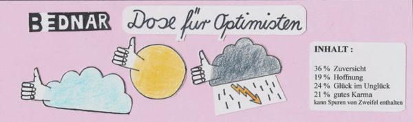 Banderole Kunstdose für Optimisten