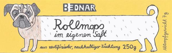 Banderole Kunstdose Rollmops