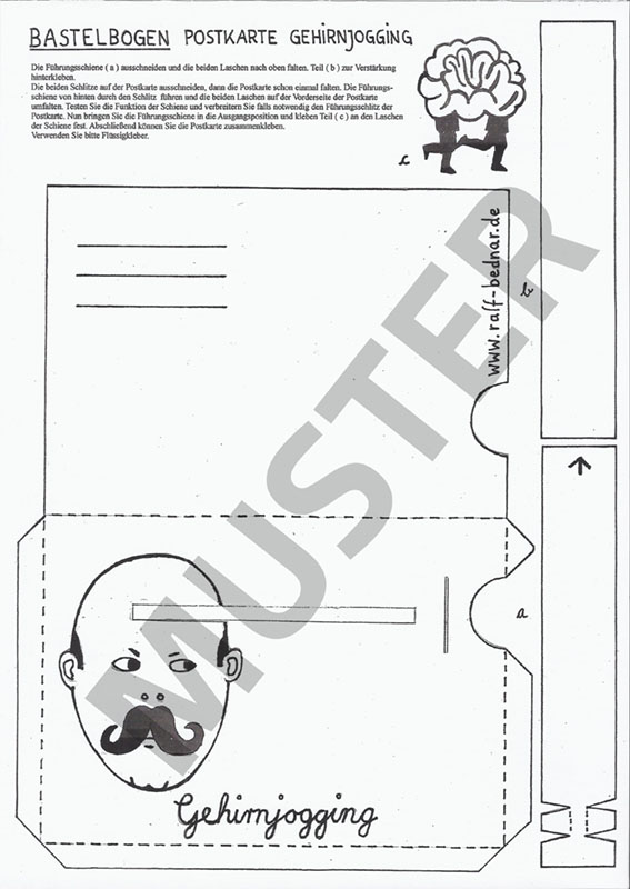 Bastelbogen-Gehirnjogging-Muster