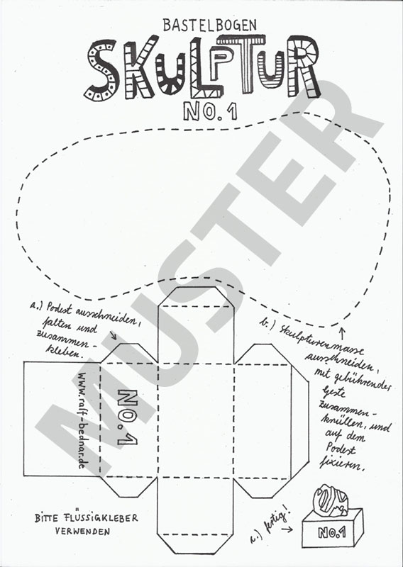 Bastelbogen-Skulptur-Muster