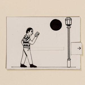Dong – Bewegliche Postkarte von Ralf Bednar