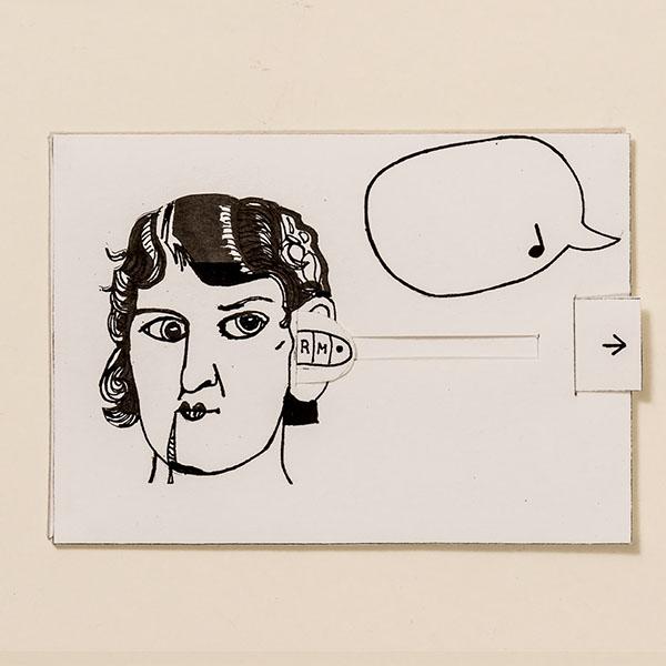 Ohrwurm – Bewegliche Postkarte von Ralf Bednar