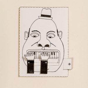 Pianist – Bewegliche Postkarte von Ralf Bednar