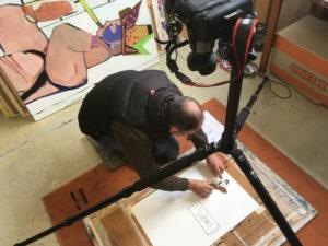 Ralf Bednar im Atelier.