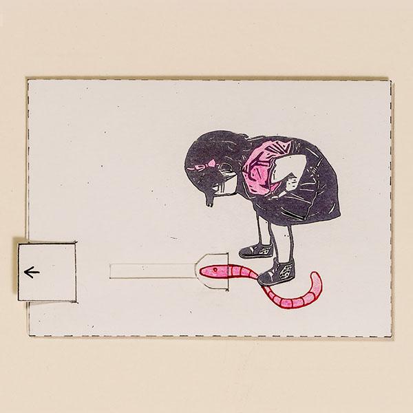 Regenwurm – Bewegliche Postkarte von Ralf Bednar
