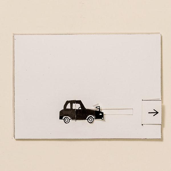 Stretchlimousine – Bewegliche Postkarte von Ralf Bednar