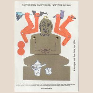 """Bastelbogen """"Nervöser Buddha"""" zum Ausschneiden"""
