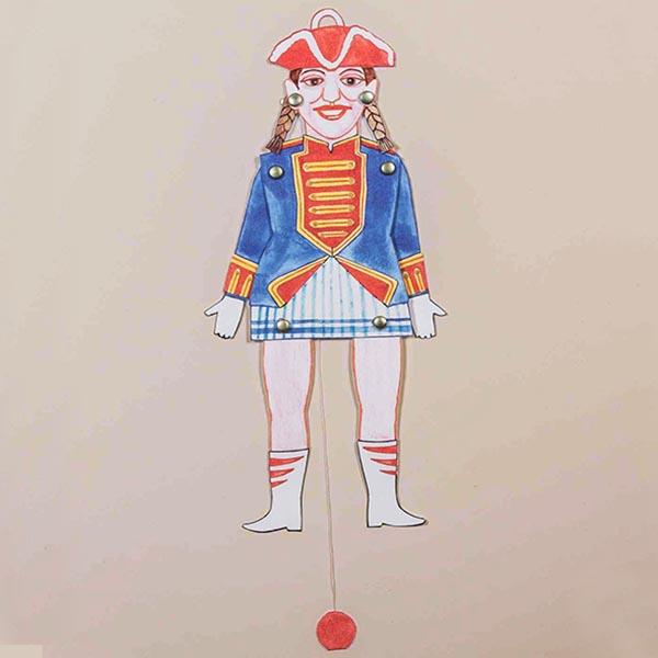 Animation eines Funkenmariechens als Hampelfrau